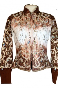 Lindsey James Bronze and Copper Vest Set With Pant