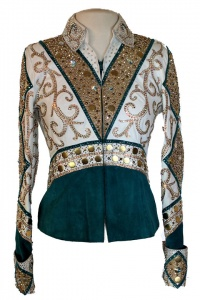 Lindsey James Turquoise Suede Jacket and Chap