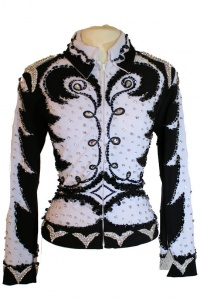Showtime Black and White Jacket With Diamond Waist
