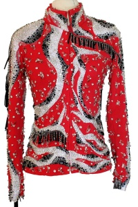 Showtime Elaborate Bright Red Jacket