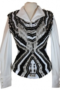 Showtime Hour Glass Black and White Vest
