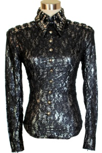 Black Lace and Silver Flecked Horsemanship