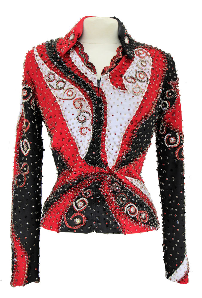 F-Showtime Red Glitzed Out Jacket – Showtime Show Clothing